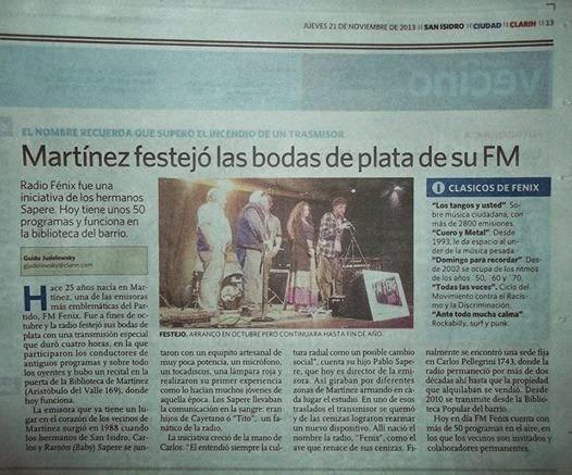 Fm Fenix 100.3 MARTINEZ
